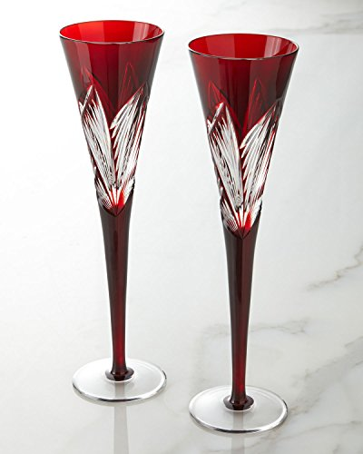 (Waterford Crystal Times Square 2014 Red Flutes,)