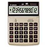 Canon TS1200TG 12-Digit Desktop Calculator, 5-1/4''x7-3/8''x1-1/8'', Gray