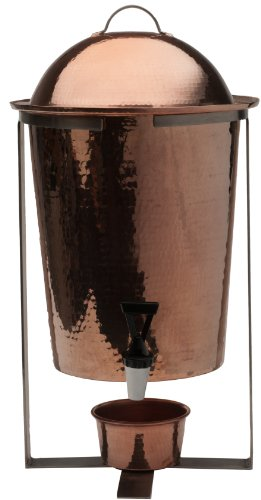 Sertodo Copper, Hand Hammered 100% Pure Copper, Arcadia Beverage Serving Urn with Spout, 13-quart Capacity by Sertodo Copper