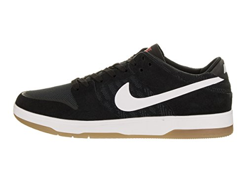 Nike Men's SB Zoom Dunk Low Elite Skate Shoe Black, White-gum Light Brown