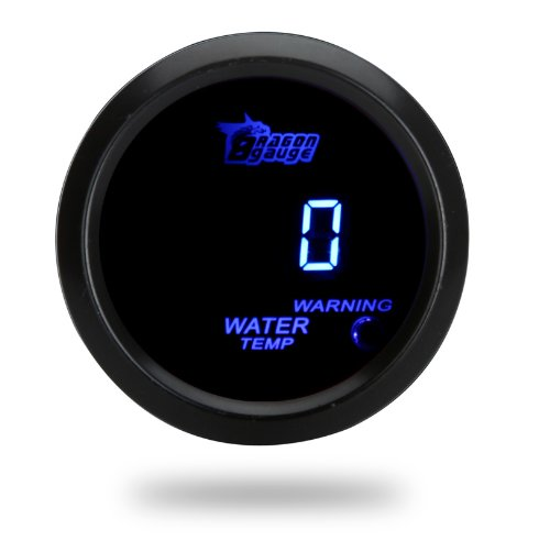 Docooler Digital Water Temperature Meter Gauge with Sensor for Auto Car 52mm 2in LCD 40~120Celsius Degree Warning Light - Gauge Digital Water Temperature
