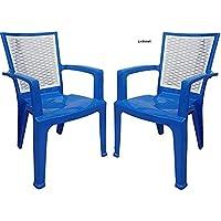 NILKAMAL Double Colour HIGH Back Plastic Chair HIGH Gloss