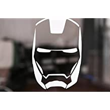 Iron Man 4.5 x 3 White High Quality Vinyl Decal lasts up to 10 years Indoor and 6 Years Outdoor. Select color from the option menu.