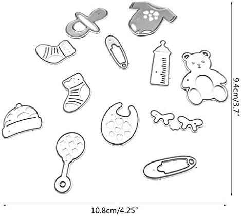 Baby Bootie Bow Metal Die Cut Stencil Serendipity Craft Cutting Dies Shower