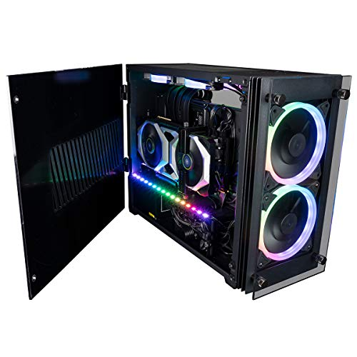 CUK Stratos Mini Gaming PC (Liquid Cooled Intel Core i9, 32GB RAM, 512GB NVMe + 1TB HDD, NVIDIA GeForce RTX 3080 10GB, 750W PSU, AC WiFi, Windows 10 Home) Tiny RGB Desktop Gamer Computer