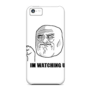 Premium Case With Scratch-resistant/ Im Watching U Case Cover For Iphone 5c