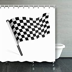 【Material and Size】: Polyester waterproof fabric, 72inches long x 72 inches wide. 【What's Included】: One shower curtain and 12-Pack plastic Shower Hooks 【Function】: Bathroom Home Decor And Eco-Friendly. 【Maintenance】: Machine washable in cold...