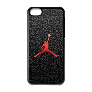 Jordan Logo 001 funda de plástico caja del teléfono celular iPhone 5C funda funda caja del teléfono celular negro cubre ALILIZHIA10106