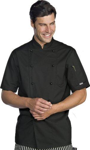 Kochjacke Action schwarz kurzarm Gr.XL