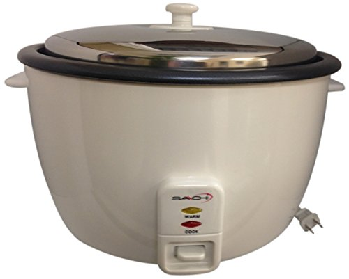 Saachi SA1280 25 Cup Automatic Non-Stick Rice Cooker (Uncooked) with Keep Warm, Silver