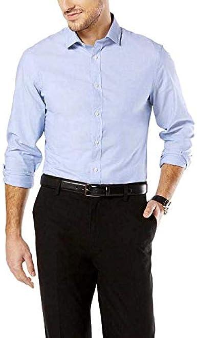 dockers Camisa SF Refined Poplin Delft S, Azul Claro: Amazon ...