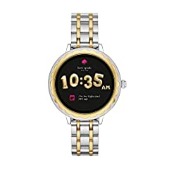 kate spade new york proudly presents the brand's first-ever touchscreen smartwatch! Style meets tech with a signature scallop topring on the 41.5mm display dial. Swipe through several adorable novelty and classic dials to fit your look, while...