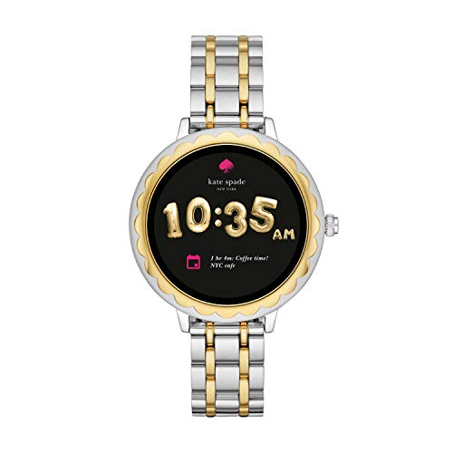 (Kate Spade New York Scallop Touchscreen Smartwatch, Two-Tone Stainless Steel Bracelet, 42mm, KST2007)