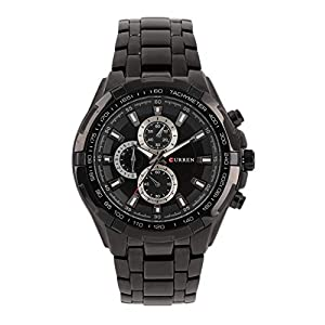 CURREN Analog Black Dial Men's Watch-CUR007