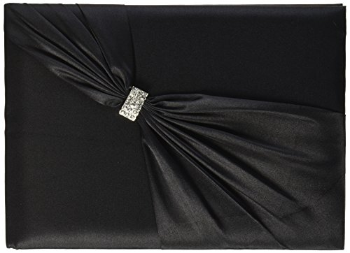- Lillian Rose Elegant Jeweled Black Satin Wedding Guest Book