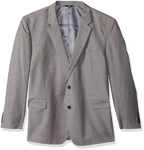 Haggar Men's Texture Weave Stretch Classic Fit Suit Separate Coat, Grey, ()