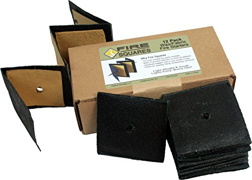 - Fire Squares, Easy Instant Fire Starters for Wood Stoves, Grills & Camp Fires - 12 Pack