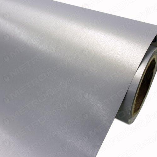 5ft x 35ft (175 Sq/ft) 3M Brushed Aluminum BR120 Scotchprint Car Wrap Vinyl Film 1080 Series