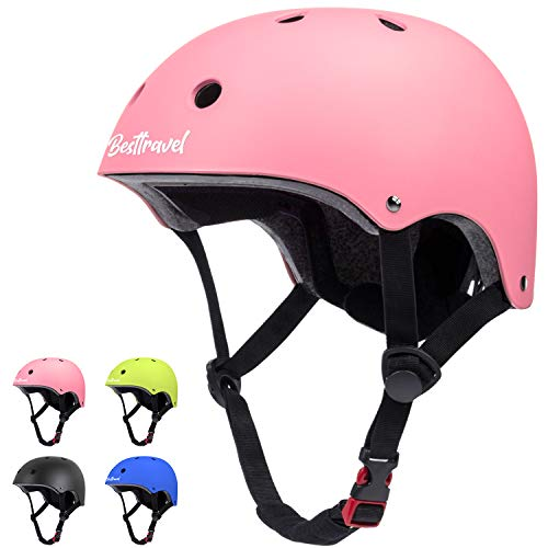 Besttravel Kids Helmet, Toddler Helmet Adjustable Toddler Bike Helmet Ages 3-8 Years Old Boys Girls Multi-Sports Safety