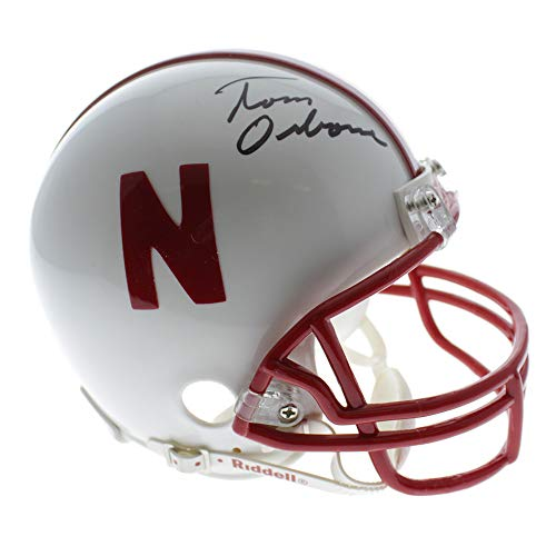 Tom Osborne Nebraska Cornhuskers Autographed Signed Riddell Mini Helmet - Certified Authentic