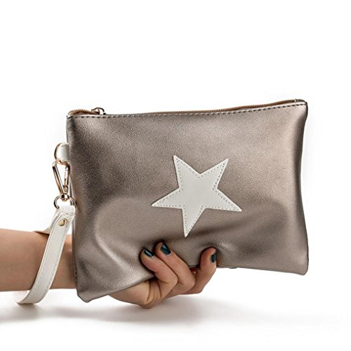 SHOBDW Handbag Zipper Wallet Coin Stars Women Holders Purse Bags Fashion Clutch A Womens Envelope Card E0wqO1Rqx
