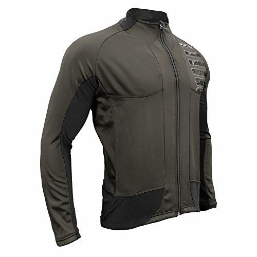 - Urban Cycling Reflector Winter Softshell Cycling Bike Jacket (Small, Charcoal Grey)
