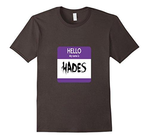 Mens Hello My Name is Hades Halloween Greek God T-Shirt XL Asphalt