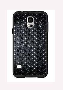 Case Cover Design Metal Design MD01 for Samsung S4 Border Rubber Silicone Case Black@pattayamart