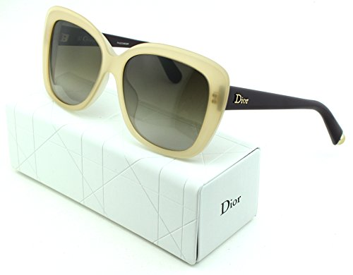 Dior Promesse 2 Square Women Sunglasses (White Brown Frame, Brown Gradient Lens - In Made Italy Sunglasses Dior