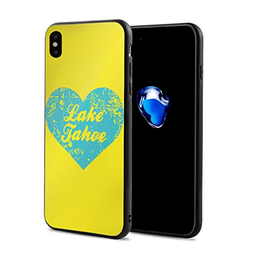 King Dare I Love Lake Tahoe iPhone Xs Case/iPhone X Case Soft TPU Shell Full Protective Bumper Anti-Scratch Case Enhanced Grip Protective Defender Cover -
