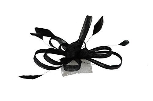 Hair Accessories - Ladies Large Coiled Net Black Fascinator on a Comb   Amazon.co.uk  Clothing 9144eb5afb4