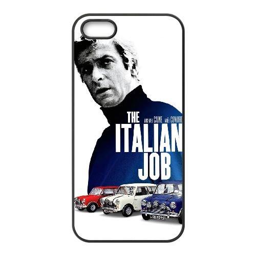 Italian Job 003 coque iPhone 5 5S cellulaire cas coque de téléphone cas téléphone cellulaire noir couvercle EOKXLLNCD24628