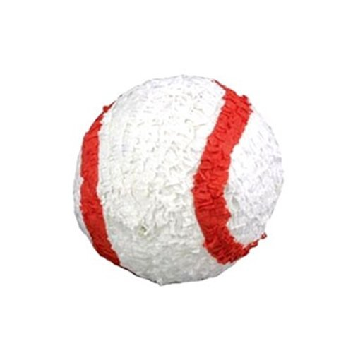 Pinatas AX-AY-ABHI-63506 Baseball, Red and White