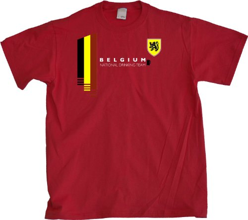 Ann Arbor T-Shirt Co. Men's Belgium National Drinking Team T-Shirt