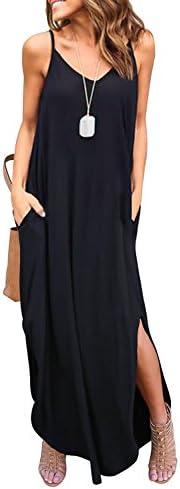 HUSKARY Womens Sleeveless Strappy Dresses product image