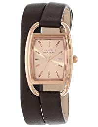 Bulova Caravelle New York Women's 44L123 Analog Display Japanese Quartz Brown Watch