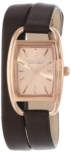 Caravelle Womens Strap - Caravelle New York Women's 44L123 Analog Display Japanese Quartz Brown Watch