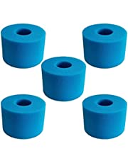Reusable Foam Box Washable Foam Hot Tub Filter Cartridge for Intex Bubble and Jetted Pure-spas, S1 Type More Durable Than The Carton (Color : 5 PCS)