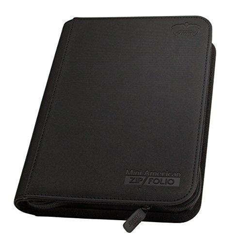 Ultimate Guard 9 Pocket Zipfolio Xenoskin Deck Case, Mini Black by Ultimate Guard