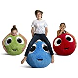 Fuzzbudds Inflatable Plush Bouncy Balls for Kids, Red 45cm
