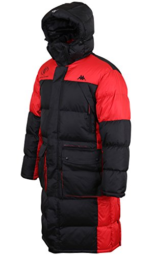 - Kappa 2 Tone Wellon Padded Removable Hooded Winter Puffer Outdoor Long Jacket (jackets-368-1-L)