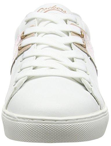 Dockers by Gerli 38pd202-610 - Zapatillas Mujer Blanco - Weiß (weiss/gold 590)