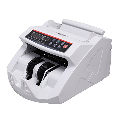 Super buy Money Counter Worldwide Currency Cash Bill Counting Machine Counterfeit Detector UV & MG Cash Bank by Super buy (Image #2)