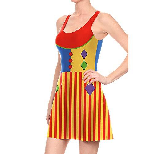Mujer Halloween 3D De Estampado Halloween Calabaza Jumperdigital Vestido Calabaza De Payaso De Mujervestido Halloween De para Vestido De M Cosplay De 4zC7RzcO