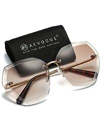 aevogue–Gafas de sol Para Mujer Rimless Diamond Cutting lente anteojos para el sol ae0534