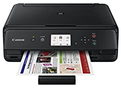 Quality printing doesn't have to be complicated. Keep it simple with the Canon PIXMA TS5020 wireless inkjet all-in-one printer. It has an intuitive user interface for fuss-free operation, Plus it easily connects to virtually any device via Wi...
