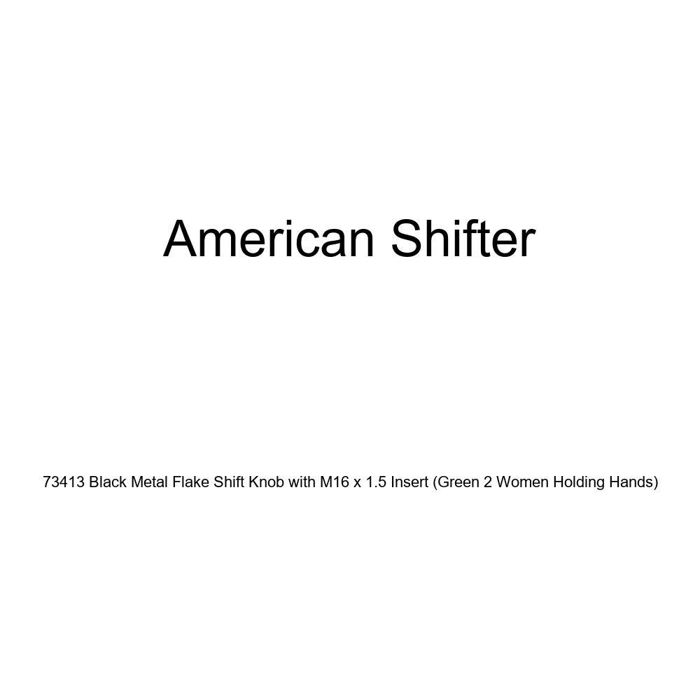 American Shifter 287168 Shift Knob Orange Carpe Diem Black Retro Metal Flake with M16 x 1.5 Insert
