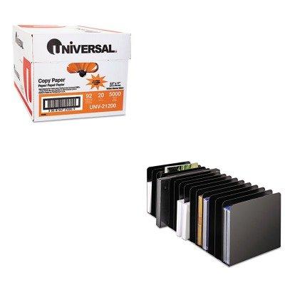 KITMMF26715MRVBKUNV21200 - Value Kit - MMF Message Rack (MMF26715MRVBK) and Universal Copy Paper (UNV21200)