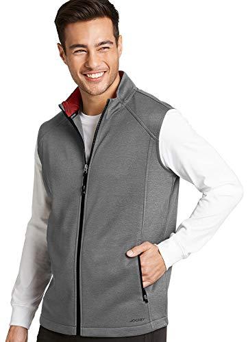 Jockey Men's Sportswear Performance Vest, Light Grey Heather with Berry Trim, S (Vests Mens Jockey)