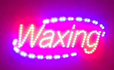 "24""X12"" Waxing Sign, Super Bright LED Open Sign, Store Sign, Business Sign, Windows Sign with Animation and Power Switch"